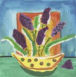 Purple Flowers Polka Dot Pot