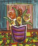 Flowers in Purple Pot