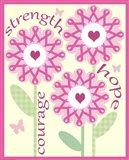 Pink Ribbon Flowers