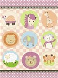 Baby Girl Animal Friends