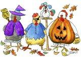 Halloween Hens