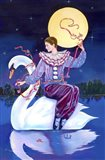 Pierrot Riding A Swan