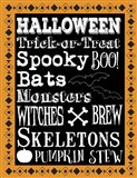 Halloween Words 1 Outlines