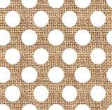 White Burlap Dots