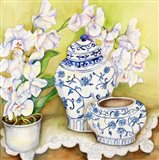 Orchid with China Vases