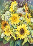 Sunflowers with Wild Flowers