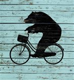 Bear On Bike On Old Board
