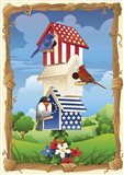 Star Spangled Birdhouse