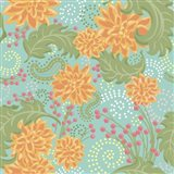 Flower Fantasy Yellow-Turquoise