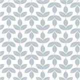 Allover Leaf Pattern Blue