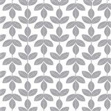 Allover Leaf Pattern Grey