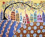 Swirl Tree and 11 Houses