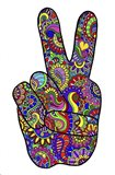 Psychedelic Mehndi Peace SIgn