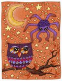 Halloween Owl And Spider