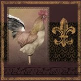 Rooster Ware Burgundy II
