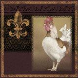 Rooster Ware Burgundy III