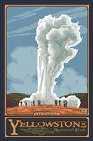 Old Faithful Yellowstone Park Ad