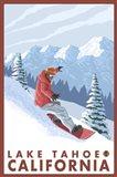 Lake Tahoe Moutain Snowboard