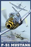 P-51 Mustang Airplane Ad