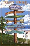 Jersey Shore Beach Signs