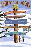 Vermont Ski Areas Signs