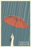 Portland Oregon Umbrella In Rain