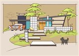 Mid-Century House #1 - Chrysler Black Dog
