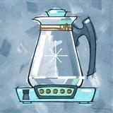 Blue On Blue Coffee Pot