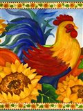 Rooster with Sunflower Border