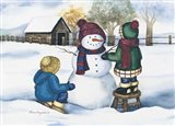 Kids with Snowman
