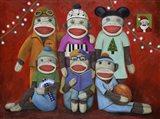 Sock Doll Family Portrait