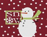 Snow Snowman Painted