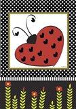 Ladybug Valentine Flag