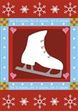 Let It Snow Ice Skate Flag