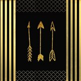 Black & Gold - Feathered Fashion Arrow
