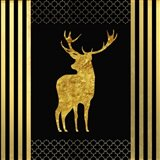 Black & Gold - Feathered Fashion Stag