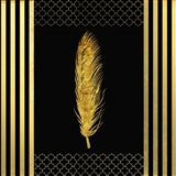 Black & Gold - Feathered Fashion