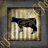 Gold Welcome To Our Bistro Cow 2