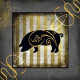 Gold Welcome To Our Bistro Pig