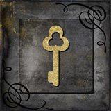 Grunge Gold Crown Key