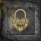 Grunge Gold Crown Lock