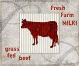 Decorative Pattern Farm Fresh Beef