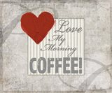 Decorative Pattern Love Coffee