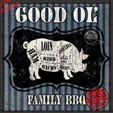 Good Ol' Family BBQ Square Pig