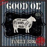 Good Ol' Family BBQ Square Sheep