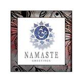 Chakras Yoga Framed Namaste V2