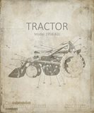 Industrail Farm Tractor Blue Print 1
