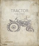 Industrail Farm Tractor Blue Print 2