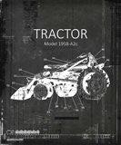 Industrail Farm Tractor Blue Print BW3