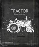 Industrail Farm Tractor Blue Print BW4